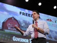 Wisconsin Gov. Scott Walker (speaking at the Iowa Freedom Summit in January) will be the keynote speaker at the Northwest Iowa Republican fundraising dinner in April. (Prezography photo/used with permission)