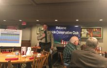Sheriff Chad Leonard of Dallas County speaks to Westside Conservatives